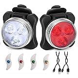 *BeiLan Llums Bicicleta Recarregable LED, Llum per a Bicicleta per USB Conjunt de Llums Davantera i Posterior amb *4pcs llum de radis de Bicicleta, Llums de radis de Rueda
