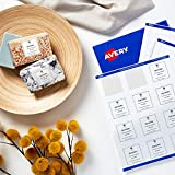 AVERY Square Labels with Sure Feed, 2'' x 2'', 120 Glossy White Labels (36476)'