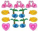 Aufblasbare Getränkehalter,Legends Einhorn Flamingo Palm Island Krapfen Frucht Cartoon Aufblasbares...