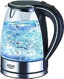 Adler AD1225 bollitore in vetro e acciaio inox con LED blu integrato | 1,7 litri di capacità |...