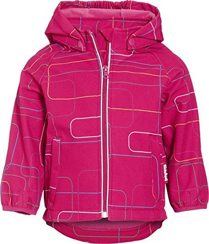 Playshoes Unisex - Baby Jacke Playshoes 3-Lagen Kinder Softshell-Jacke bedruckt Outdoor Art. 430103, Gr. 80, Rosa (18 pink)