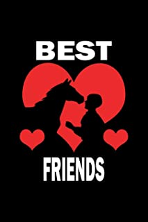 Best Friends: Daily Planner - Calendar Diary Book - Weekly Planer - Best Friends, Horse, Riding, Animal, Ride, Sport - Lov...