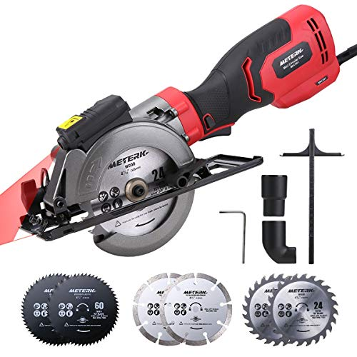Circular Saw, Meterk 6.2A Compact Electric Circular Saw with Laser Guide, 6...