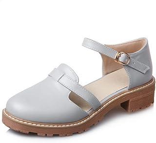 BalaMasa Womens ASL06071 Pu Block Heels