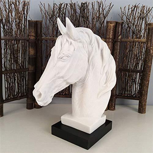 GG.S Moderno Abstracto Cabezal De Caballo Estatua Escultura Resina Ornamentos Decoración del Hogar Accesorios De Resina Geométrica Estatuas De Escultura (Color : 002)