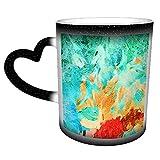 Pittura astratta impressionista nello stile di Vincent Van Gogh in tazza di ceramica di caffè G, tazza di tè, 11 once