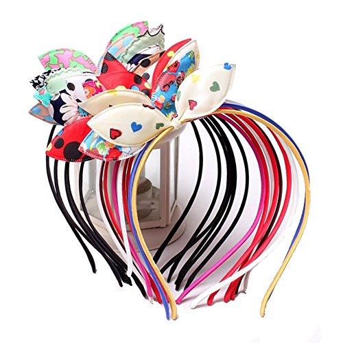 Joli Lapin mignon Lot différentes couleurs d'oreille enfants Bandeau cheveux & # nitrure ; Lot de 5 & # enduit ;