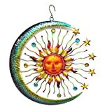 Bejeweled Display® Large Sun Face, Star & Moon w/Glass Wall Art Plaque & Home Decor