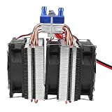 Enfriador Termoeléctrico, Cuatro Tubos De Cobre Huecos Enfriador De Semiconductores Duradero para Exteriores para Pecera(120W (Adecuado para pecera de 30 litros))