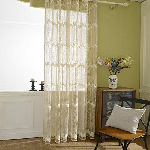 Met Love Ondulation Multicolore Fenêtre Transparente Salon Salon Chambre Étude Balcon Dédié Baie Fenêtre 2 Panneaux (taille : L:1.5*H:2.7m)