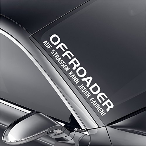 Schönheits Shop Offroader Frontscheibenaufkleber Aufkleber Tuning Turbo Heckscheibe Jeep Sticker