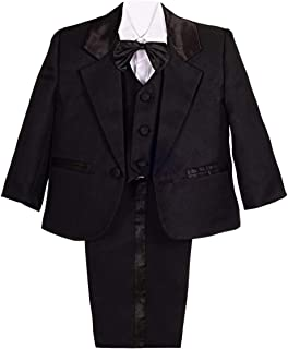 Dressy Daisy Baby Boy' Formal Tuxedo Suits Wedding Baptism Christening Outfits 5 Pcs Set
