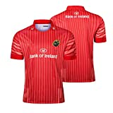 JIEBANG 2019 Ville Rugby Jersey Munster, Munster Domicile/Extérieur Manches Courtes Rugby T-Shirt Chemises Polo, Football Jersey Formation Compétition Masculine Red-XL