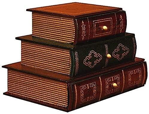 Qasole Caja de joyería Vintage Caja de Madera Caja Decorativa Caja Decorativa Manual de joyería Manual de joyería Personalizada para Mujeres