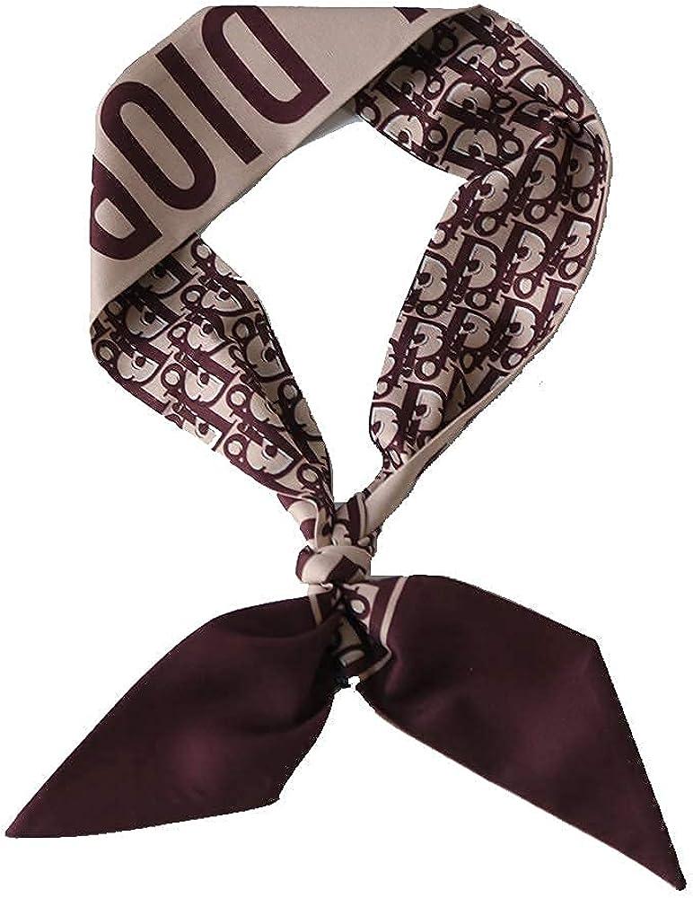 Chemasvil Fashion Silk Feeling Scarf Handle Bag Long Hair Tie Headband Neck Twill Ribbon Decorative For Woman 96 x 6 CM…