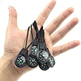 SPYSEE Mini Survival Compass Pack of 20 - Outdoor Camping Hiking Pocket Compass Liquid Filled Mini Compass for Paracord Bracelet Necklace Key Chain