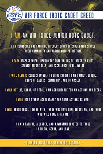 The Supply Room Air Force JROTC Cadet Creed Unframed Gloss Poster (18' x 24')