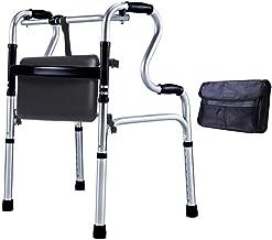 PXY Walking Frame,Rollator Walker Walker for Seniors,Compact Folding Aluminium Walker with Pu Seat Hight Adjustable Lightw...