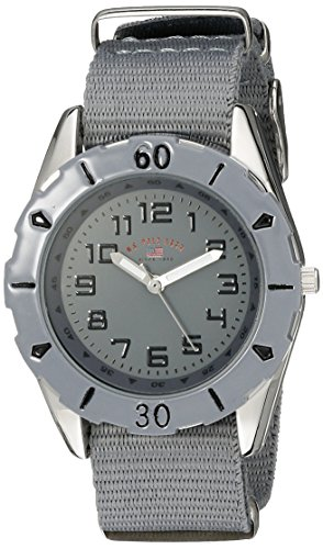 U.S. Polo Assn. Kids' USB75031 Analog Display Analog Quartz Grey Watch