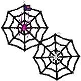 CGT Halloween Creepy Crawly Tinsel Web with Spider Decorations Set of 2 (Bonus Exclusive CGT Araneae) Party Office Home Garden Porch Patio Yard Front Door Decoration