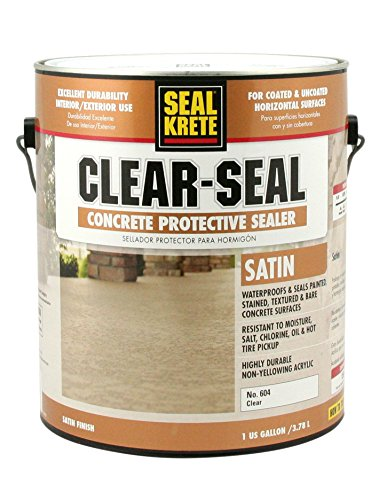 Seal-Krete 604001 Clear-Seal Satin Concrete Protective Sealer, Gallon, Clear