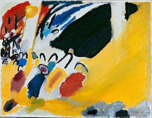 Das Museum Outlet–Kandinsky–Impression III, gespannte Leinwand Galerie verpackt. 40,6x 50,8cm