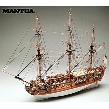 帆船模型キット ロイヤルキャロライン(60分の帆船模型製作入門DVD、及び和訳付き)