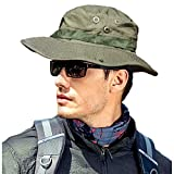 MerryBIY Sports et Extérieur Sun-Shading Chapeau Bucket Hat Boonie Camping Chasse Pêche Vert Armée Jungle Camouflage Unisex Cap Été Soleil Plage Casquette (Army Green)