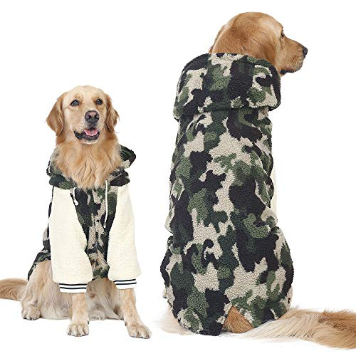 FLAdorepet Hundemantel für den Winter, warm, Fleece, Camouflage