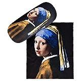 VON LILIENFELD Portaocchiali Astuccio Occhiali Leggero Stabile Colorato Compatto Arte Jan Vermeer La ragazza con l'orecchino di perla