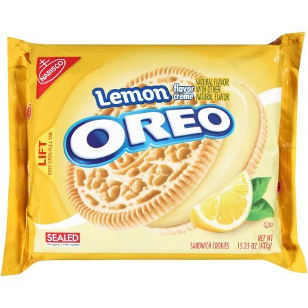 Lemon Flavor Creme Oreo Sandwich Cookies by Nabisco