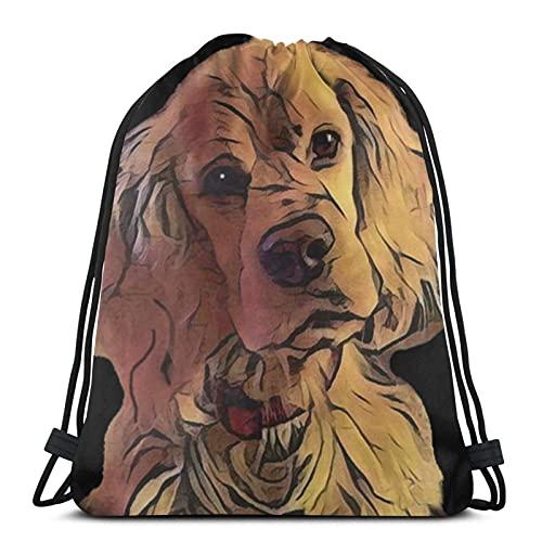 Bolsas con cordón Flight-Sweet Cocker Spaniel Dog Unisex Mochila con cordón Bolsa de cuerda Bolsa grande con cordón Bolsa de gimnasio Mochila a granel