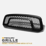 Stehlen 642167821885 Rebel Honeycomb Mesh Front Hood Bumper Grille - Matte Black For 2013-2018 Dodge Ram 1500/2019-2020 Classic