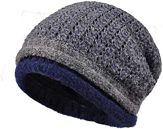 WYMAI Winter Ladies Wool Hat Casual Versatile Pile Cap Multicolor Optional Simple and Practical Product (Color : Gray)