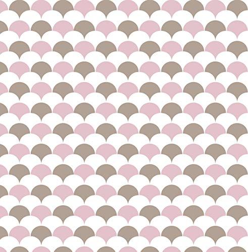Klebefolie Flakes-Motiv Dekofolie Möbelfolie Tapeten selbstklebende Folie, PVC, ohne Phthalate, Rosa, Stärke: 0,16 mm, Venilia 54788
