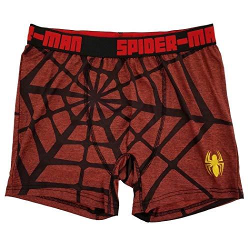 Spider-Man Marvel Mens Red Spiderweb Graphic Boxer Briefs Boxers Medium