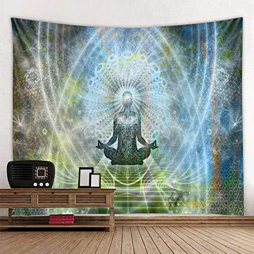 WERT Indischer Buddha Meditation Wandteppich Wandhalterung Mandala Wandteppich Wandtuch Psychedelic Yoga Boho Wandteppich A1 150x200cm