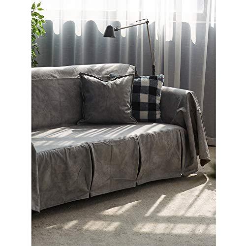 Volltonfarbe Sofa Sofabezüge,Leichter Luxus Nachhaltige Nicht-Slip Couch-Abdeckung Waschbar Haustierschutz...