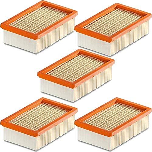 1-10 Stück Flachfilter für KÄRCHER - ersetzt original Filter wie 2.863-005.0 für MV 4 5 6 P Premium (MV5, MV 5P, Premium, 5 Filter)