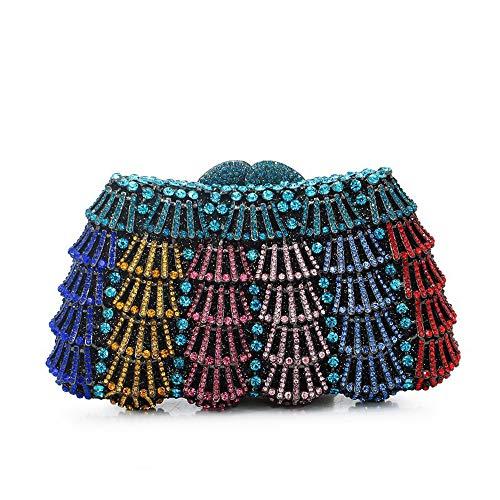 Madeinely Las señoras Bolsa de Embrague Bolsos de Damas Bolsos de Diamantes de imitación Vestidos de Noche para la Sra. Fiesta Cartera de Boda Bolso de Hombro de Primera Calidad Bolsos Hechos a Mano