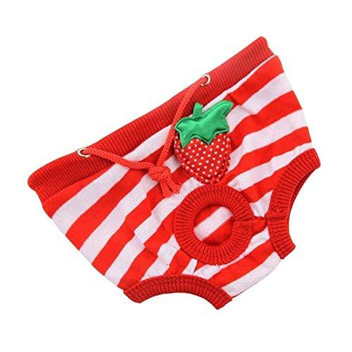 XYSQWZ Ropa Interior para Prevenir El Acoso De Perros Hembras Pañales De Algodón para Menstruación Cómodos Y Transpirables (Color: Tipo D Tamaño: Pequeño)
