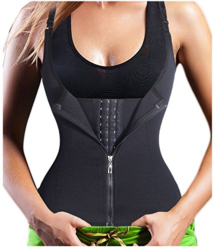 Gotoly Quick Weight Loss, Adjustable Straps Body Shaper Waist Cincher Tank Top (XL Fits 30.7-33.8 Inch Waistline, Black(Tummy Tuck))
