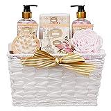 Juego de 9 piezas de cesta de spa con diseño de rosas británicas relajantes, incluye...