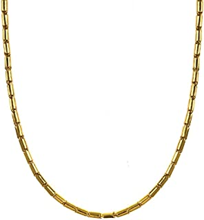 24k Yellow Gold 3.2mm Baht Solid Link Chain Necklace/Bracelet