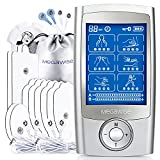 MegaWise 48 Modes(24 * 2) with 10 Premium Pads EMS TENS Unit, Muscle Stimulator for Back Pain Relief Therapy,Dual Chanel for Home use, Gift for Mum and dad
