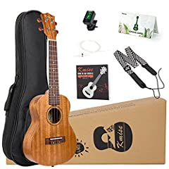 Top Intonation : Equipped with an 18:1 ratio tuner machine and high quality carbon string, this ukulele can get in tune and stay in tune better than ever. easy your playing. gear tuning pegs, ensures you would not be troubled by 'out of tune' so fast...