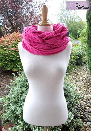 PÜNKTCHEN XXL kuscheliger Schal mit Punkten Loop pink