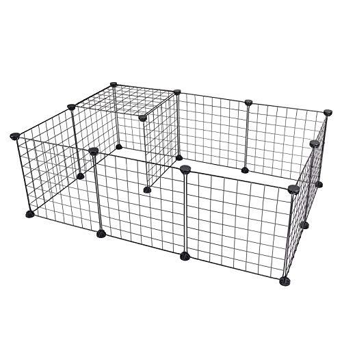 EUGAD DIY Freigehege Laufstall Laufgitter Welpenauslauf Katze Kaninchen Hamster Hasen Welpe und Meerschweinchen 0002WL