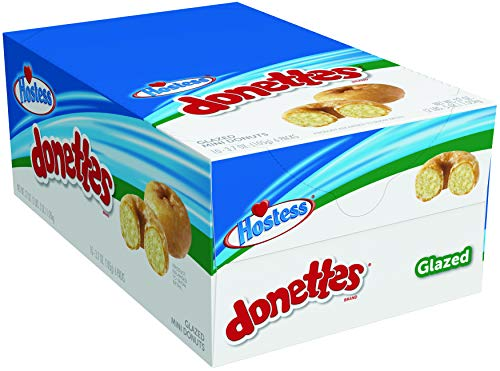 Hostess Donettes Mini Donuts, Glazed, 3.7 Ounce, 10 Count