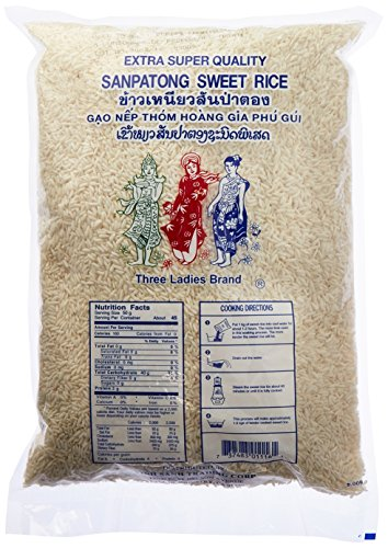 Three Ladies Sanpatong Sweet Rice 5 lbs